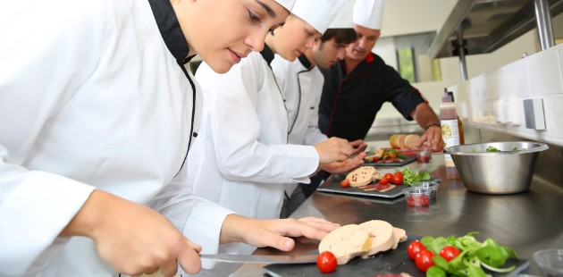 commercial chefs in kitchen